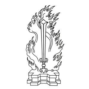 不動明王 倶利迦羅剣 炎剣縦120ミリ(12センチ)寺院用 神社用 御朱印帳用ゴム印 印鑑 印章はんこ スタンプ
