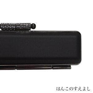 チタンカラー印鑑ケース マットブラック直径12ミリ長さ60ミリ用12mm・10.5mm兼用黒枠 黒ベッチン 朱肉付超高品質 個人用印鑑入れ 日本製実印 銀行印 認印用はんこケース