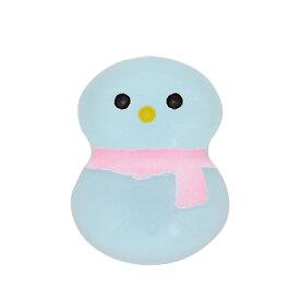 水色 雪だるま ミニミニ お財布 お守り【メール便・同梱OK】