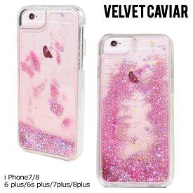ヴェルヴェット Velvet Caviar キャビア iPhone 8 7 Plus 6s 6 ケース スマホ 携帯 グリッター アイフォン アイフォーン ベルベット PINK HOLOGRAPHIC GLITTER iPhone CASE レディース クリア ピンク