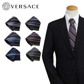 VERSACE ヴェルサーチ ネクタイ メンズ シルク ギフト ケース付 イタリア製 ビジネス 結婚式 ベルサーチ