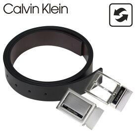 Calvin Klein ベルト カルバンクライン メンズ 本革 ベルトセット リバーシブル バックル CK ビジネス ブラック 黒 ブラウン 74203