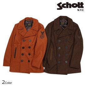 【10%OFF!決算SALE!】 Schott ショット ピーコート Pコート コート メンズ HEATHERED WOOL PEACOAT 762