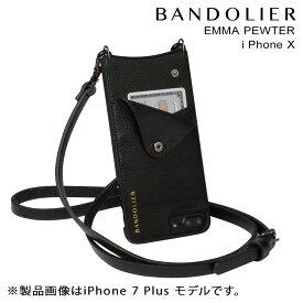 バンドリヤー BANDOLIER iPhoneX ケース スマホ アイフォン EMMA PEWTER レザー メンズ レディース