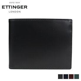 ETTINGER エッティンガー 財布 二つ折り メンズ BRIDLE BILLFOLD WITH 3 C/C & PURSE ブラック ネイビー ブラウン グリーン 黒 BH141JR [6/5 追加入荷]