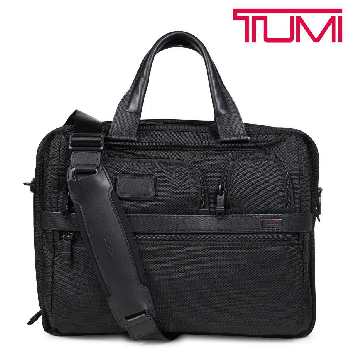トゥミ TUMI ビジネス バッグ メンズ ALPHA2 ブリーフケース T-PASS EXPANDABLE LAPTOP BRIEF ブラック 26145D2