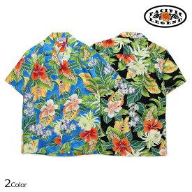 Pacific legend パシフィック レジェンド アロハシャツ メンズ ハワイ製 HAWAIIAN SHIRTS ブラック 黒 ブルー 410-3799