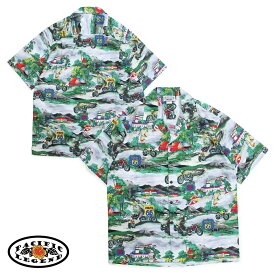 Pacific legend パシフィック レジェンド アロハシャツ メンズ ハワイ製 HAWAIIAN SHIRTS グレー 410-3914