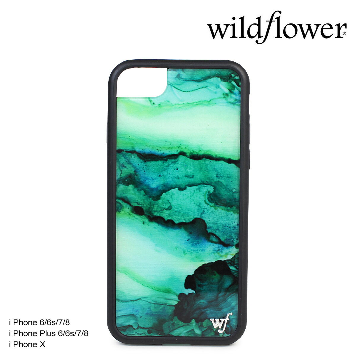 ワイルドフラワー ケース スマホ iPhone8 X wildflower iPhone ケース 7 6s 6 Plus アイフォン レディース ハンドメイド
