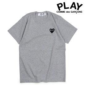 COMME des GARCONS PLAY コムデギャルソン Tシャツ 半袖 レディース BLACK HEART T-SHIRT グレー AZT075