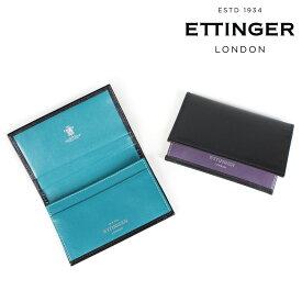 ETTINGER エッティンガー 名刺入れ カードケース メンズ VISITING CARD CASE ブラック 黒 ST143JRB