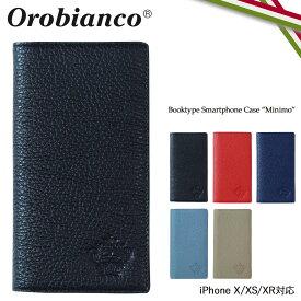 Orobianco オロビアンコ iPhone XR X XS ケース 手帳型 スマホ 携帯 アイフォン MINIMO レザー メンズ レディース