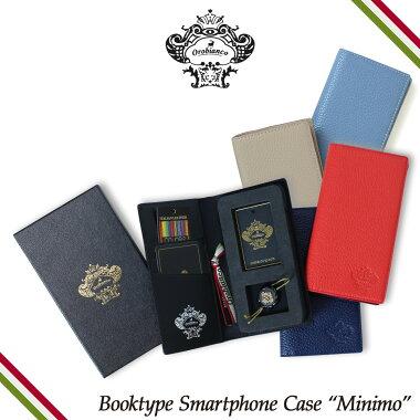OrobiancoオロビアンコiPhoneXRXXSケース手帳型スマホアイフォンMINIMOレザーメンズレディースORIP-0002[予約商品11/9頃入荷予定新入荷]