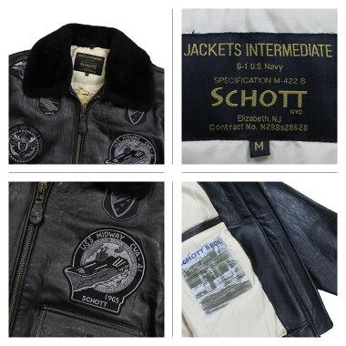 SchottショットジャケットボンバージャケットメンズMENG-1WINGSOFGOLDLEATHERBOMBERJACKETブラックブラウンG1TG