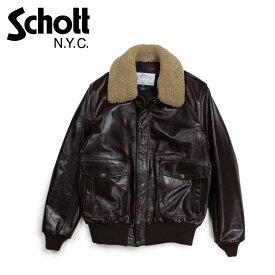 Schott ショット ジャケット ボンバージャケット メンズ MEN COWHIDE BOMBER JACKET ブラウン 534
