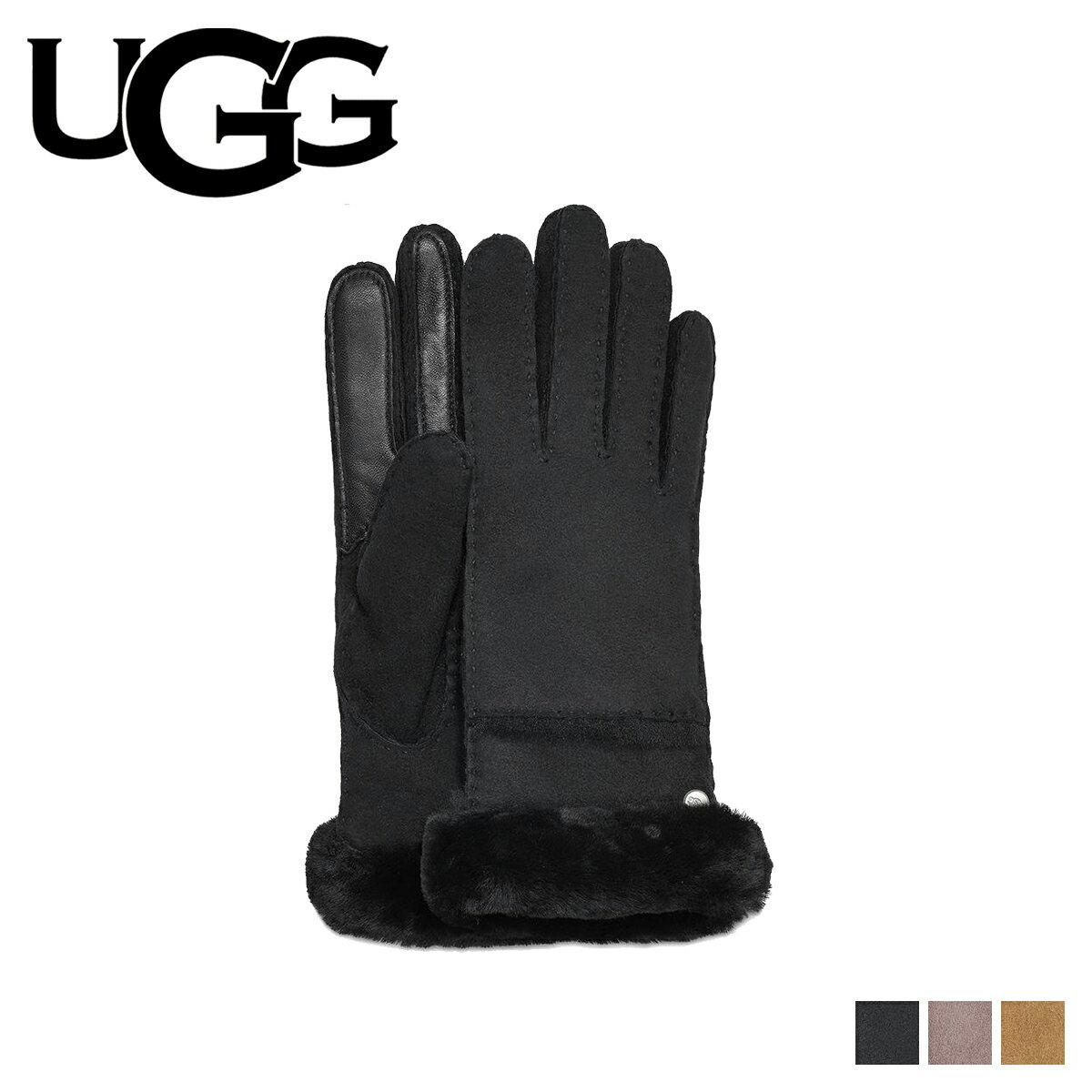 アグ UGG 手袋 グローブ レディース SEAMED TECH GLOVE スマホ対応 ブラック グレー ブラウン 17371BX [12/27 新入荷]