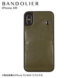 バンドリヤー BANDOLIER iPhone XR ケース スマホ 携帯 アイフォン レザー ALEX GREEN メンズ レディース グリーン