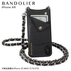 バンドリヤー BANDOLIER iPhone XR ケース ショルダー スマホ アイフォン レザー LUCY SILVER メンズ レディース ブラック 黒 10LCY1001