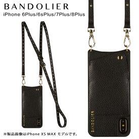 バンドリヤー BANDOLIER iPhone8Plus iPhone7Plus 6sPlus ケース ショルダー スマホ アイフォン レザー NICOLE GOLD メンズ レディース ブラック 黒 10NIC1001