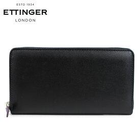 ETTINGER エッティンガー 財布 長財布 メンズ 本革 STERLING LARGE ZIP AROUND PURSE ブラック 黒 ST2051EJR