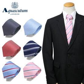 AQUASCUTUM アクアスキュータム ネクタイ メンズ イタリア製 シルク ビジネス 結婚式 ブランド