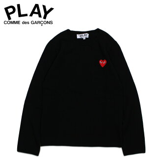 PLAY COMME des GARCONS コムデギャルソンニットセーターレディース RED HEART CREW NECK SWEATER black black AZ-N067
