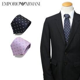 EMPORIO ARMANI エンポリオ アルマーニ ネクタイ メンズ イタリア製 シルク ビジネス 結婚式 ネイビー ピンク