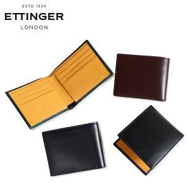 ETTINGER エッティンガー 財布 二つ折り メンズ レザー BILLFOLD WALLET WITH CARD CASE ブラック ネイビー ブラウン グリーン 黒 BH030