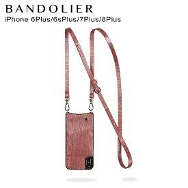 バンドリヤー BANDOLIER iPhone8 iPhone7 7Plus 6s ケース スマホ アイフォン レザー EMMA ROSE WAVE メンズ レディース ワインレッド 10EMM