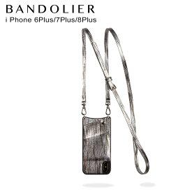 バンドリヤー BANDOLIER iPhone8 iPhone7 7Plus 6s ケース スマホ アイフォン レザー SILVER WAVEA メンズ レディース シルバー 10EMM