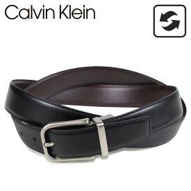Calvin Klein カルバンクライン ベルト レザーベルト メンズ 本革 リバーシブル 32MM REVERSIBLE BELT ブラック ブラウン 黒 75657 [7/7 再入荷]