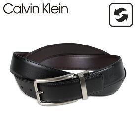 Calvin Klein カルバンクライン ベルト レザーベルト メンズ 本革 リバーシブル 32MM REVERSIBLE BELT ブラック ブラウン 黒 75661 [予約 8/25 追加入荷予定]