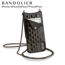 バンドリヤー BANDOLIER iPhone8 iPhone7 7Plus 6s ケース スマホ アイフォン レザー SHEILA BLACK メンズ レディース ブラック 黒 10SHE [5/29 新入荷]