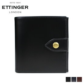 ETTINGER エッティンガー 財布 二つ折り メンズ レザー LARGE BILLFOLD PURSE ブラック ネイビー ブラウン 黒 BH178JR [6/5 新入荷]