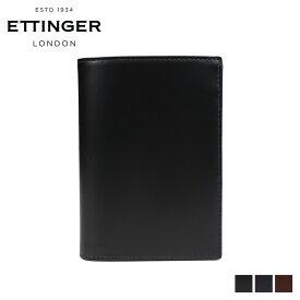 ETTINGER エッティンガー 財布 二つ折り メンズ レザー PURSE NOTECASE WITH 4 CC SLOTS ブラック ネイビー ブラウン 黒 BH179JR [6/5 新入荷]