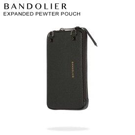 バンドリヤー BANDOLIER ケース ポーチ スマホ 携帯 レザー EXPANDED PEWTER POUCH メンズ レディース ブラック 黒 21GRA [予約 10月上旬 再入荷予定]
