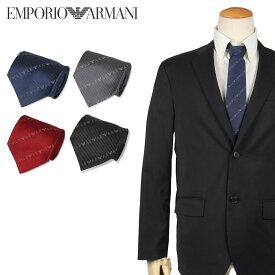 EMPORIO ARMANI エンポリオアルマーニ ネクタイ メンズ イタリア製 シルク ビジネス 結婚式 ブラック グレー ネイビー レッド 黒 ブランド