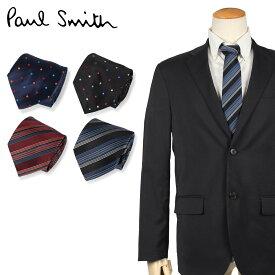 Paul Smith ポールスミス ネクタイ メンズ イタリア製 シルク ビジネス 結婚式 ブラック ネイビー ブラウン 黒 ブランド