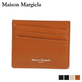 MAISON MARGIELA メゾンマルジェラ カードケース 名刺入れ 定期入れ メンズ レディース レザー CARD CASE ブラック ダーク ネイビー ベージュ ブラウン 黒 S35UI0432 P2714