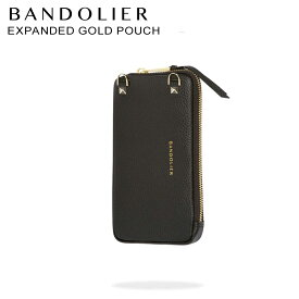 バンドリヤー BANDOLIER ポーチ ケース スマホ 携帯 レザー EXPANDED GOLD POUCH メンズ レディース ブラック 黒 21GRA [予約 10月上旬 再入荷予定]