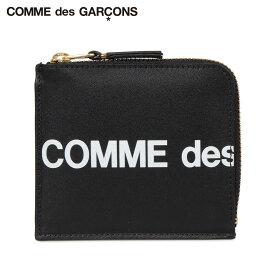 COMME des GARCONS コムデギャルソン 財布 ミニ財布 メンズ レディース L字ファスナー 本革 HUGE LOGO WALLET ブラック 黒 SA3100HL
