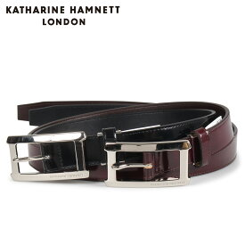 KATHARINE HAMNETT LONDON キャサリンハムネット ロンドン ベルト レザーベルト メンズ 本革 LEATHER BELT ブラック ダーク ブラウン 黒 KH505010 [10/15 新入荷]