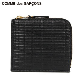 COMME des GARCONS コムデギャルソン 財布 ミニ財布 メンズ レディース L字ファスナー 本革 BRICK WALLET ブラック 黒 SA3100BK