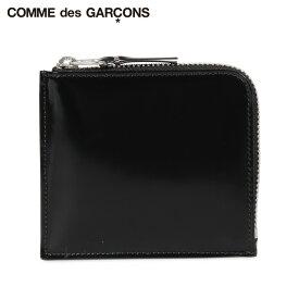 COMME des GARCONS コムデギャルソン 財布 小銭入れ コインケース メンズ レディース L字ファスナー 本革 MIRROR INSIDE COIN CASE ブラック 黒 SA3100MI