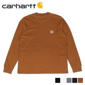 carhartt WIP カーハート Tシャツ メンズ 長袖 ロンT 無地 LS POCKET T-SHIRT ブラック ホワイト ダーク グレー ダーク ネイビー ブラウン 黒 白 I022094