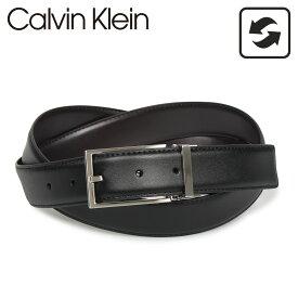 Calvin Klein カルバンクライン ベルト メンズ リバーシブル 32MM REVERIBLE BELTSET ブラック ブラウン 黒 74310