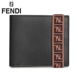 FENDI フェンディ 財布 二つ折り メンズ BI-FOLD WALLET ブラック 黒 7M0266 A8VC