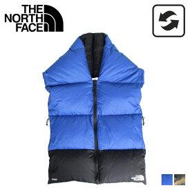 THE NORTH FACE ノースフェイス ダウン マフラー スカーフ ヌプシ メンズ レディース リバーシブル NUPTSE SCARF ブルー カモ 迷彩 NF0A3FMI