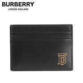 【最大600円OFFクーポン】 BURBERRY バーバリー カードケース 名刺入れ 定期入れ メンズ SANDON TB TAILORING LEATHER ブラック 黒 8009192
