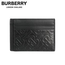 BURBERRY バーバリー カードケース 名刺入れ 定期入れ メンズ MONOGRAM BERNIE CARD HOLDER ブラック 黒 8017647 [予約 11月上旬 追加入荷予定]